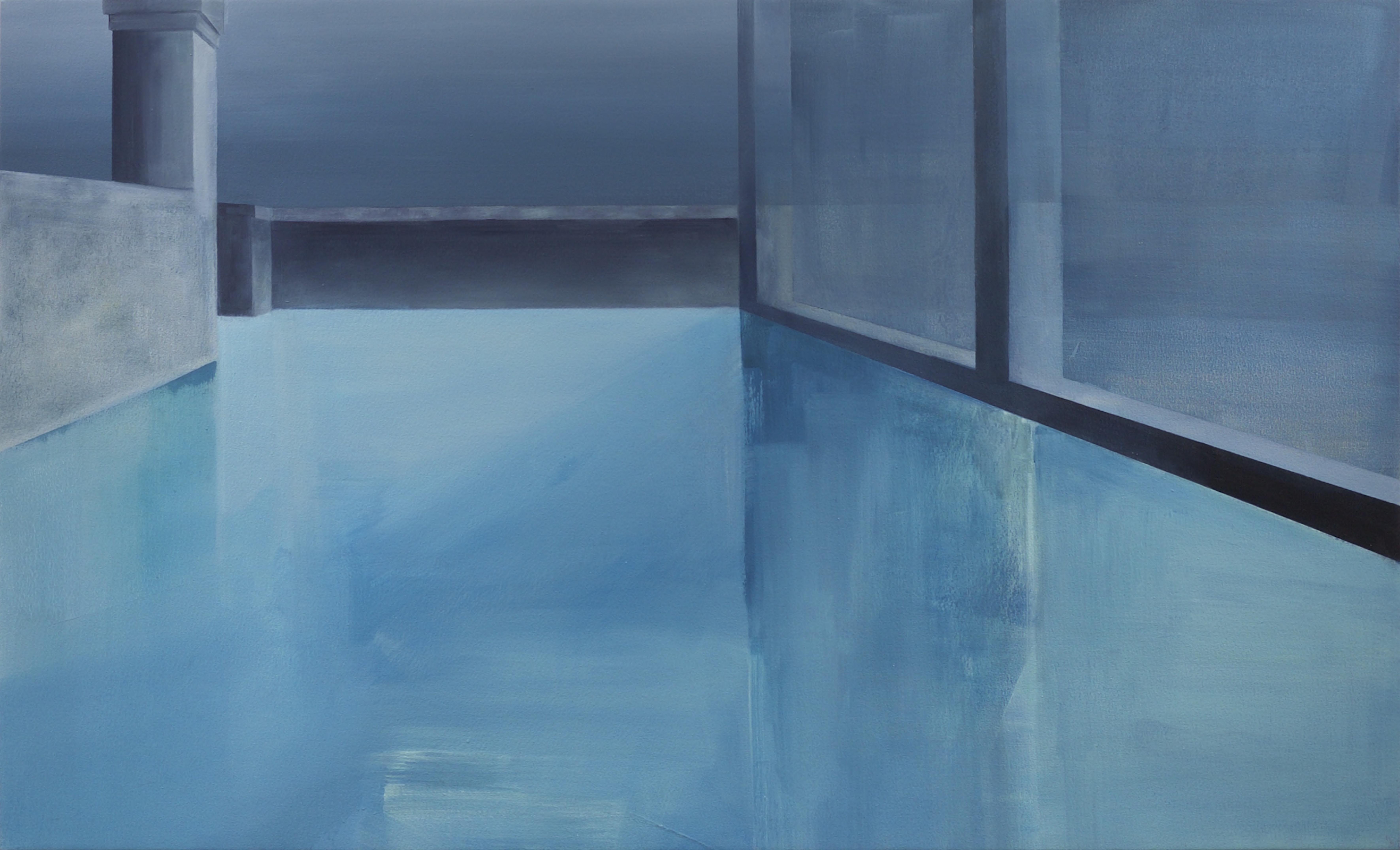 Fiona Harman, 2015. Lost Horizon, oil on canvas, 80 x 130cm